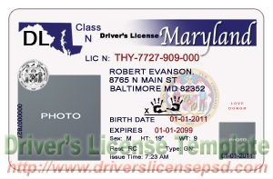 Make fake maryland drivers license