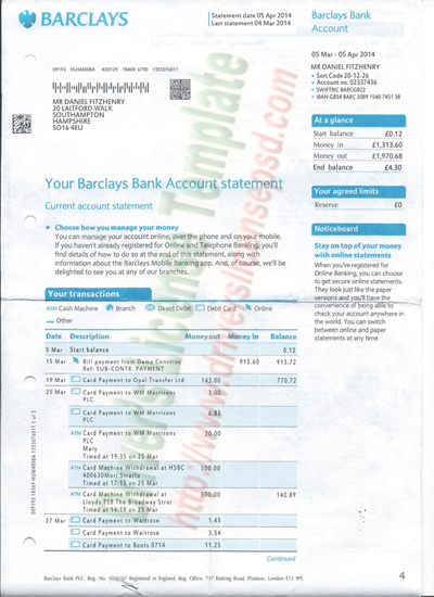fake barclays bank statement template drivers license fake drivers license drivers license