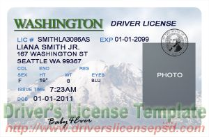 drivers license fake drivers license drivers license psd washington drivers license psd. Black Bedroom Furniture Sets. Home Design Ideas