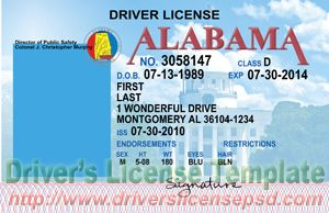 - Alabama License Psd Drivers Al Fake